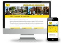 Webdesign für Wählerinitiative »Frankfurt West« – Ansicht Monitor und Smartphone
