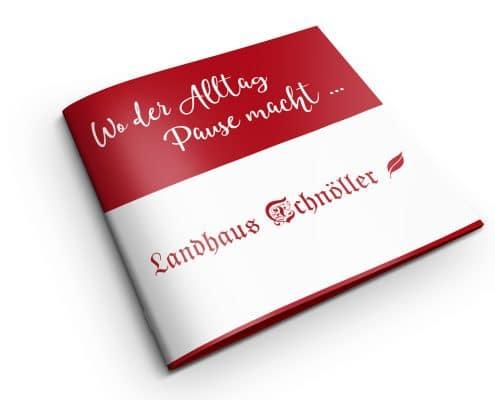 Printdesign: Imagebroschüre für Landhaus Schnöller / Österreich, Titel