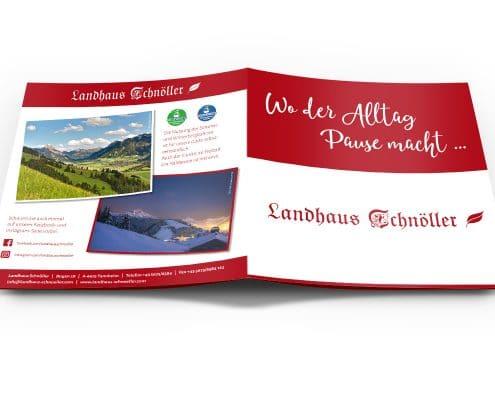 Printdesign: Imagebroschüre für Landhaus Schnöller / Österreich, Titel und Rückseite