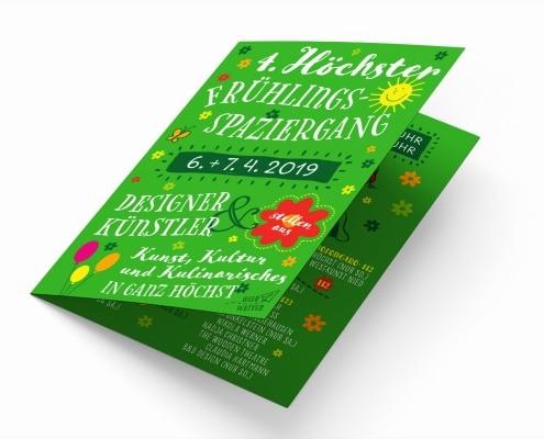 Flyer für Höchster Frühlingsspaziergang 2019 – Titel