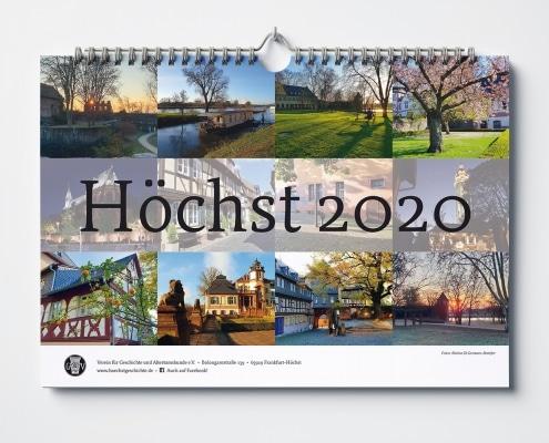 Wandkalender 2020 für den Verein für Geschichte und Altertumskunde e.V. Höchst –Titel