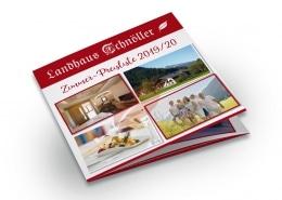 Preisliste 2019/2020 für Landhaus Schnöller, Tannheim / Tirol, Titel