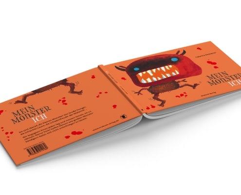 Umschlaggestaltung »MonsterIch« für Mabuse-Verlag, Vorder- und Rückseite