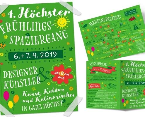 Höchster Frühlingsspaziergang 2019 –Flyer und Plakate