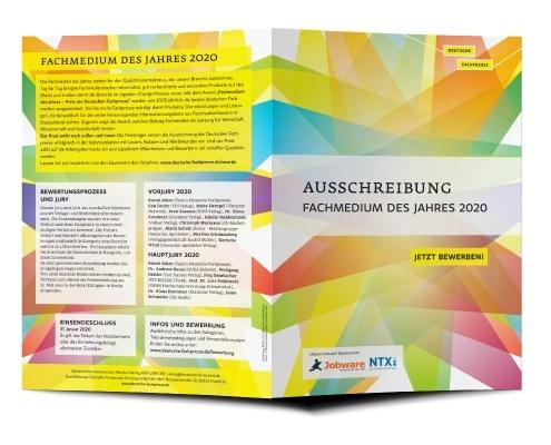 Ausschreibung Award »Fachmedium des Jahres 2020« für Deutsche Fachpresse, Titel und Rückseite