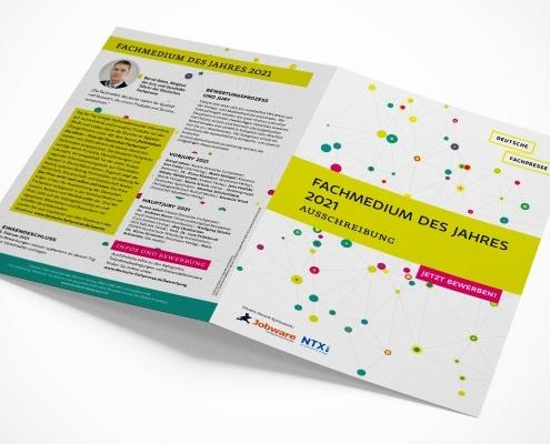 Ausschreibung »Fachmedium des Jahres 2021« der Deutschen Fachpresse, Titel und Rückseite