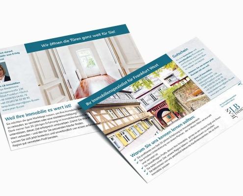 Werbeflyer für Frankfurt-Höchst, für JeanLB Immobilien