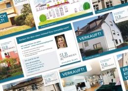 Werbepostkarten für JeanLB Immobilien