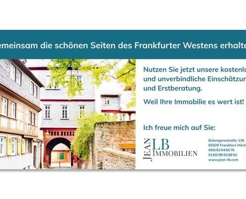 Werbeschild für JeanLB Immobilien