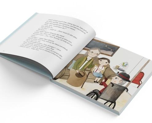 Kinderfachbuch über Altenheime, »Jori, Urma und Herr Brause«, Mabuse-Verlag, Innenseite