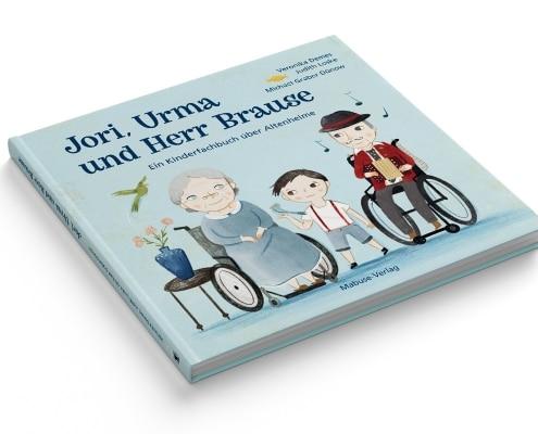 Kinderfachbuch über Altenheime, »Jori, Urma und Herr Brause«, Mabuse-Verlag, Titel