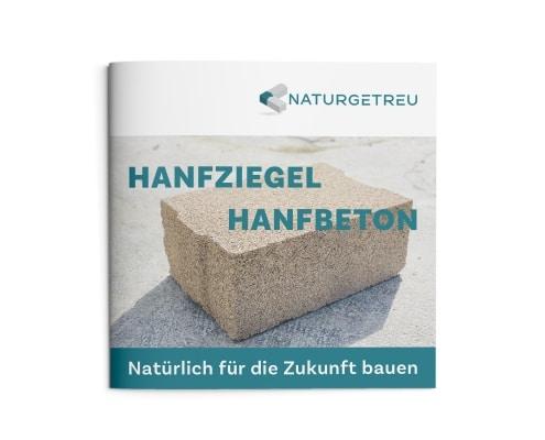 Imagebroschüre für »Naturgetreu GmbH«, Titelseite