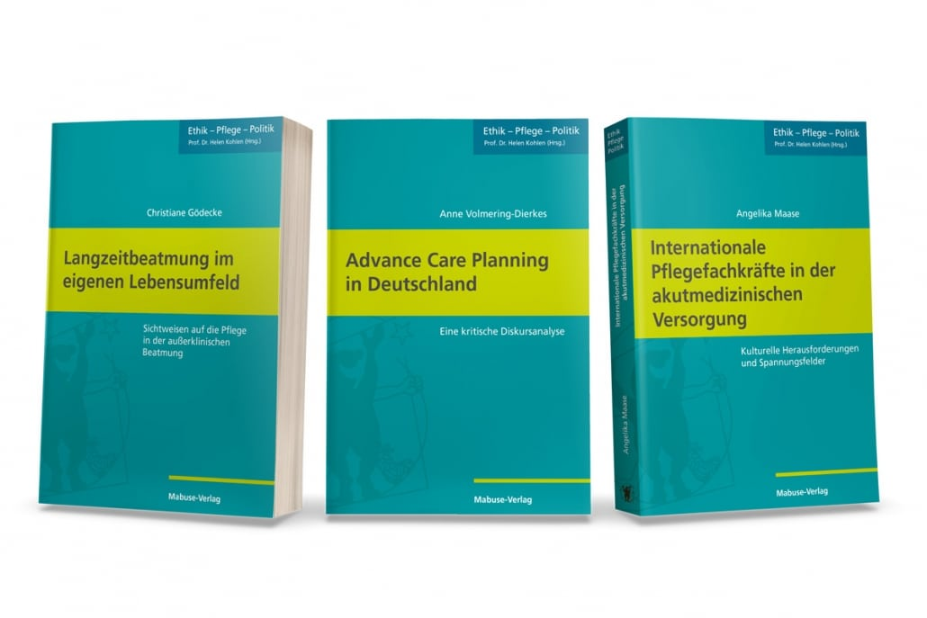 Gestaltung des Einbandes für die Buchreihe »Ethik – Pflege –Politik« des Mabuse-Verlags