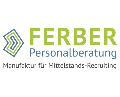 Logo-Redesign für Ferber Personalberatung, dreizeilig
