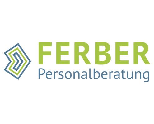 Logo-Redesign für Ferber Personalberatung, zweizeilig