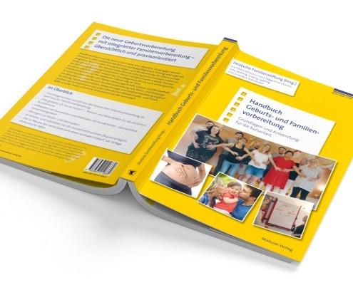 Handbuch für Geburts- und Familienvorbereitung, Titel und Rückseite