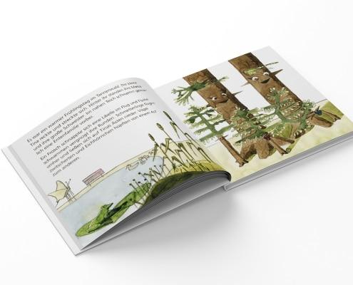 Buchgestaltung für »Tina Tannenbaum«, Innenseiten