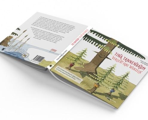 Buchgestaltung für »Tina Tannenbaum«, Titel und Rückseite