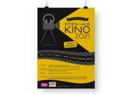 Poster für Kopfhörer-Open-Air-Kino 2021 des stajupfa
