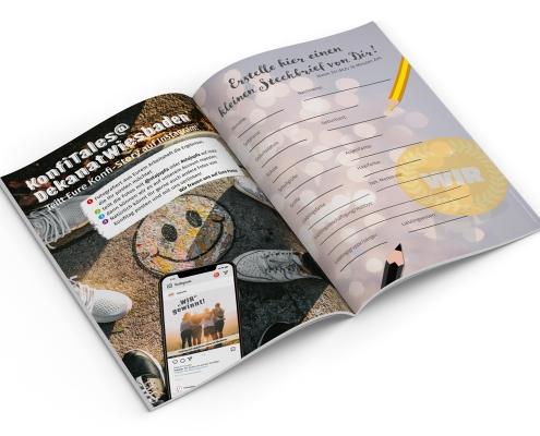 Stajupfa Wiesbaden – Gestaltung / Layout von Konfiheft 2021, Innenseiten