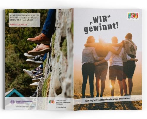Stajupfa Wiesbaden – Gestaltung / Layout von Konfiheft 2021, Titel und Rückseite
